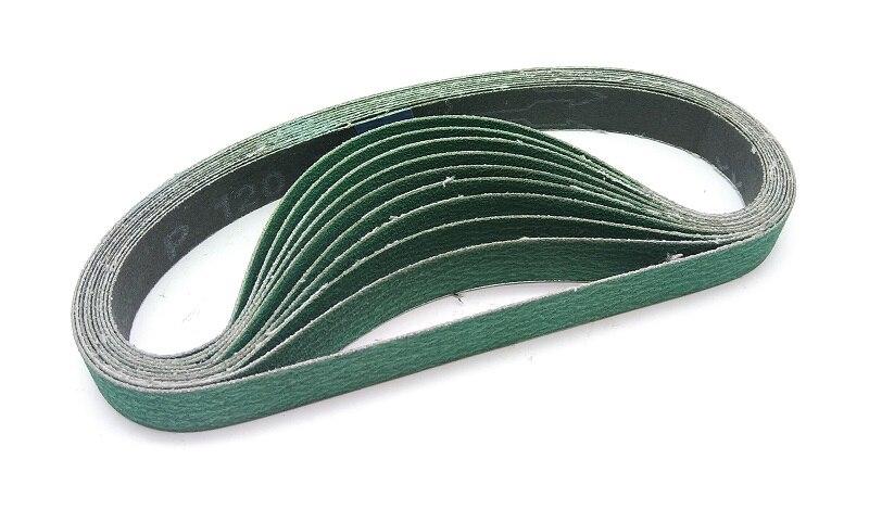Nuevo 10 Uds 520*20 circonio (MM) cinturón de corindón cinta de lijado abrasiva para correa de Metal de aire herramienta amoladora 577F