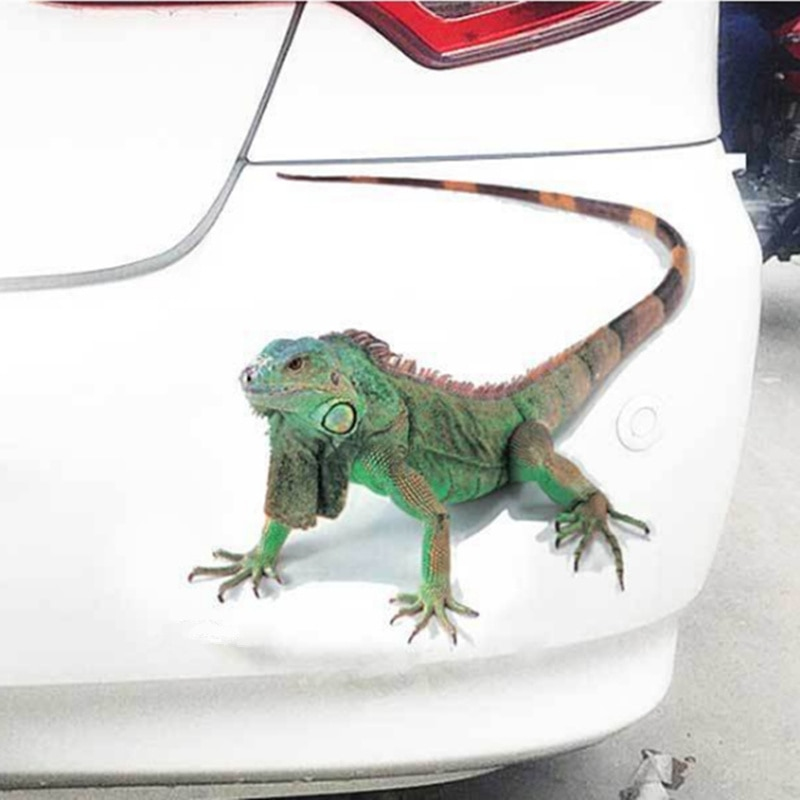 Pegatina de estilo 3D para coche, pegatina de animales, Araña, Gecko, escorpiones para Renault Koleos, Clio, Scenic Megane, Duster, Sandero y Captur