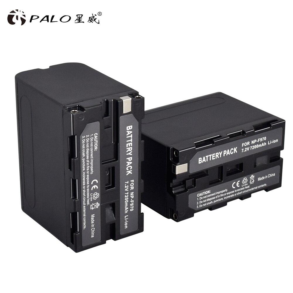 Palo 2 uds 7,2 V 7200mAh NP-F960 F970 NPF960 F960/F970 batería recargable Digital Li-ion para cámara Sony NP-F960 NP-F970