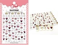 HanYiNail 080-103 nuevo elemento pequeño bonito dibujo animado ratón Kitty uñas arte pegatina Harajuku envoltura de uñas pegatinas para Manicura