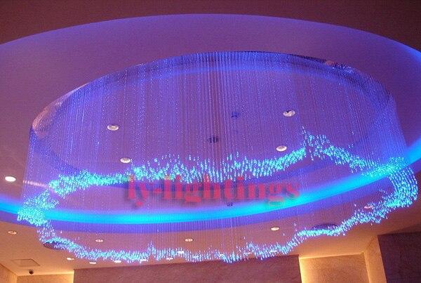 DIY optic fiber light kit 25w led light +200x0.75mmx2m clear optical fibres RGB color change IR control star ceiling light