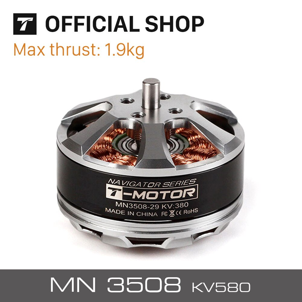 T-motor electric RC Model Part MN3508 KV580 Outrunner Brushless radio control Motor for multirotor copter