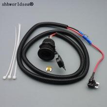 shhworldsea 1set 1M 1.5mm2 Car Cigarette Cigar Lighter Socket 12V Extension Micro Fuse Tap Holder Lead