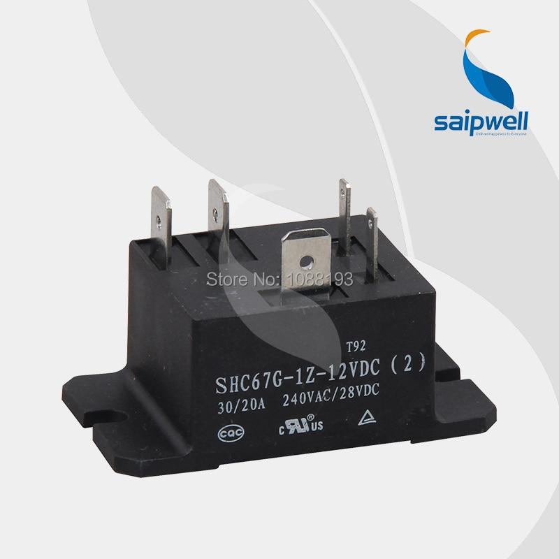 Relé CQC aprobado 30A/40A 240VAC/28VDC PBC/relé de potencia SHC67G (T92), 32,5*27,5*27,5mm de tamaño