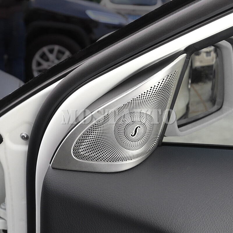 Для Benz GLA X156 внутренняя Передняя колонна аудио динамик край крышка отделка 2013-2018 2 шт