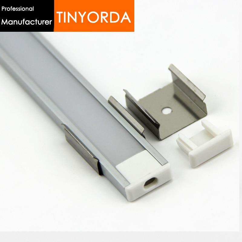 Tinyorda 500Pcs (2M Length) Led Aluminum Profile  Led Channel Profil for 11mm LED Strip Light [Professional Manufacturer]TAB1606