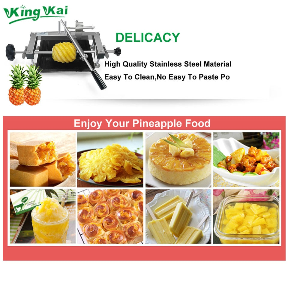 DIY Stainless Steel 304 Clean And Safe Home Useful Hand Pineapple Peeling Machine Power Tools enlarge