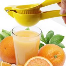Exprimidor de limón Manual amarillo, colador de prensa multifuncional con mango, exprimidor de limón, aleación de aluminio, herramientas para jugo fresco #20