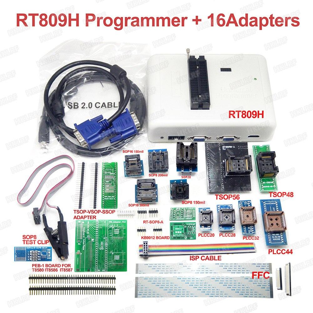 Universal RT809H emmc-nand FLASH programador + 16 adaptador