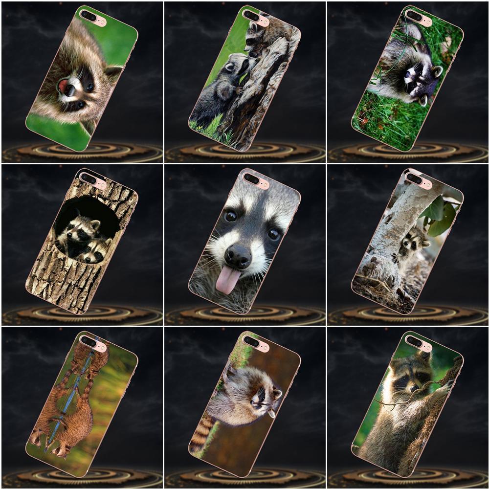 Para Sony Xperia Z Z1 Z2 Z3 Z4 Z5 compacto Mini M2 M4 M5 T3 E3 E5 XA XA1 XZ premium Suave Caixa Chamada Guaxinins Bebê Guaxinins