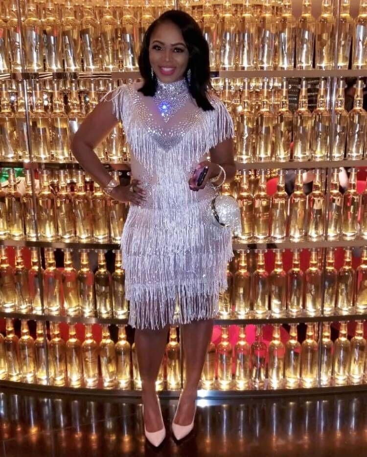 High Quality Sliver Off The Shoulder Tassel Knee Length Dress Night Club Party Dancer Costumes