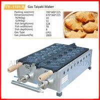 Commercial Stainless Steel Taiyaki Machine Nonstick Gas Japanese Fish Waffle Maker Baker 6 Molds