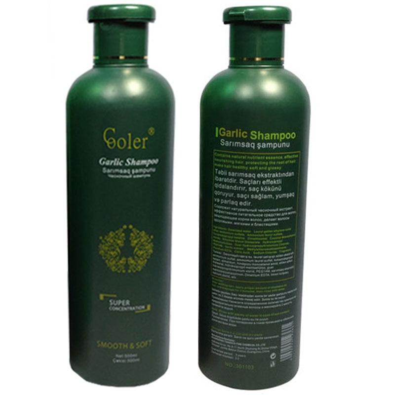 Champú para el cabello con ajo, champú anticaspa nutritivo para el crecimiento del cabello, cuidado profesional de 500 ml, envío gratis