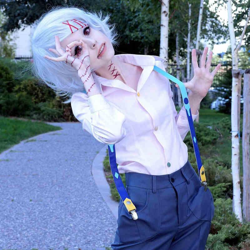 Tokyo Ghoul Tokyo Guru Cosplay Costume Juuzou Suzuya full set holloween costumes Outfits Women shirt+pants+Kneepad+