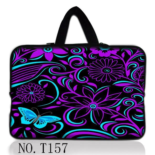 "Flor roxa netbook laptop sleeve case bag bolsa capa para 13 ""13.3"" macbook pro/air"