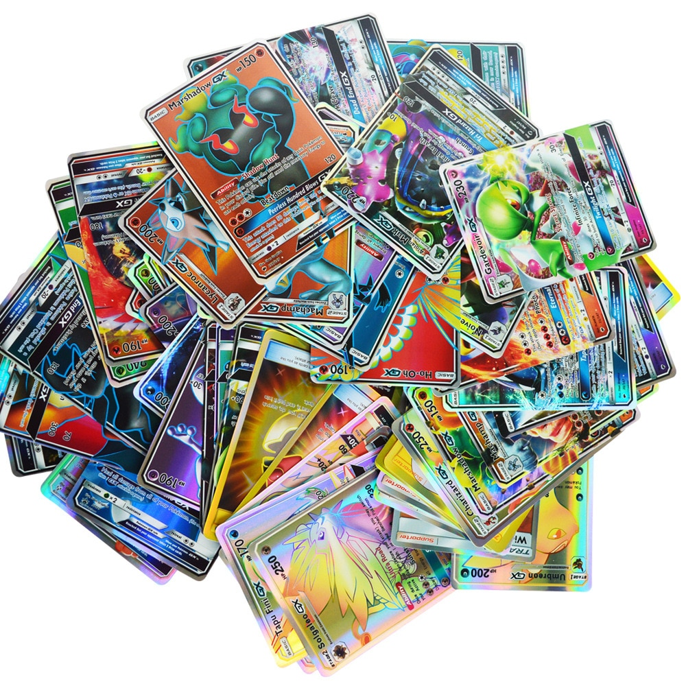 200 100 60 UDS No repiten para pokemones GX EX MEGA cartas de juguete juego Battle Carte Trading Energy Shining tarjetas colección de niños