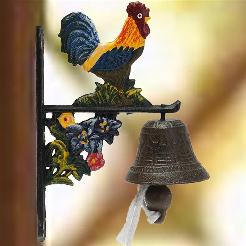 Металлический винтажный дверной колокольчик чугунный петух для настенного окна, двери, висячие украшения, украшения для дома, сада, ремесла