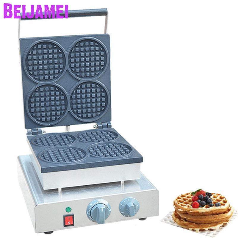 بيجامي-ماكينة وافل دائرية صغيرة ، 110 فولت ، 220 فولت ، غير لاصقة ، للاستخدام التجاري