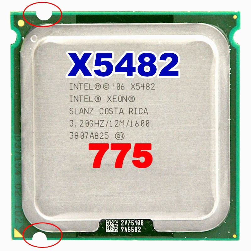 Процессор INTEL xeon X5482 socket LGA775 CPU 3,2 ГГц/12 Мб кэш-памяти L2/четырехъядерный процессор/FSB 1600 с адаптерами