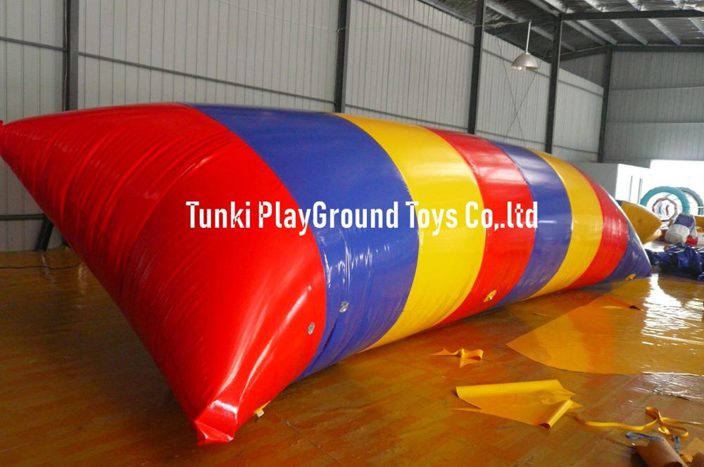 Bolsa saltarina inflable de agua de alta calidad, blob inflable de chorro de agua, cojines de aire grandes para juego de agua