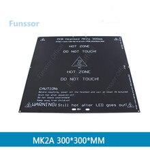 Funssor 3D imprimante pièces 300*300 PCB lit chaud 3 MM MK2A plaque daluminium