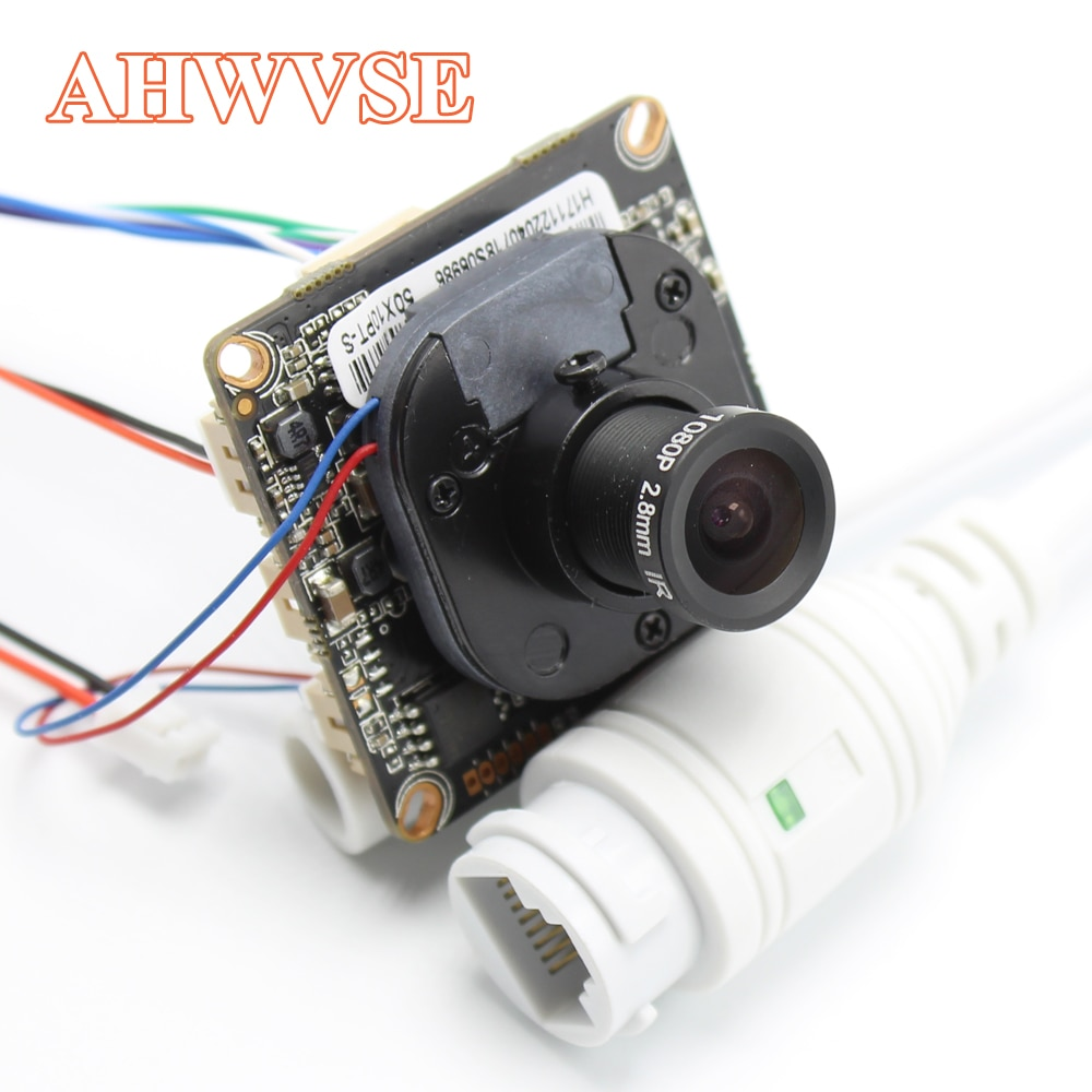 AHWVE DIY 1080P 2MP IP камера модуль Плата с IRCUT RJ45 кабель ONVIF H264 мобильное приложение XMEYE Serveillance CMS 2,8 мм объектив
