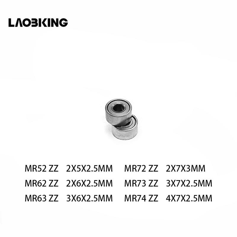 10 Uds MR52 ZZ MR62ZZ MR63ZZ MR72 ZZ MR73 ZZ MR74ZZ Mini rodamientos en miniatura 2x5x2,5 2x6x2,5 3x6x2,5 2x7x3x7x2,5 4x7x2.5mm