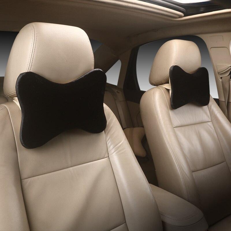 2 PCS Plush warm Car Neck Pillows Neck Headrest Breathable Vehicular Pillows Seat Neck Pillows Car-styling Accessories