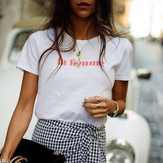 PUDO-XSXFEMME lettre imprimé été mode Tumblr pur et frais style femmes Top décontracté lâche mignon esthétique blanc T-Shirt