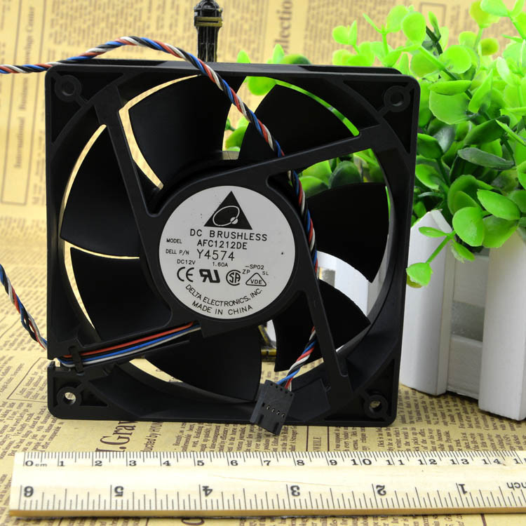 Free Shipping Delta AFC1212DE 12CM 120MM 1238 12038 120*120*38MM 12*12*3.8CM 1.6A pwm the thermostat ball fan