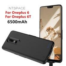 Fundas de cargador de batería para Oneplus 6T funda de batería 6500mAh funda de batería portátil para Oneplus 6 funda de carga de energía de teléfono