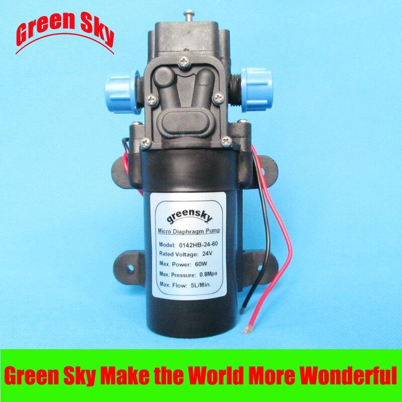 5L/MIN 60W 24V DC Return Valve Type Micro Car High Pressure Water Pump Diaphragm