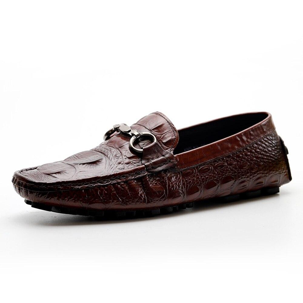 Haute qualité hommes conduite chaussures nouvelle mode en cuir de vache véritable marque italienne concepteur formel confortable bateau chaussures décontractées