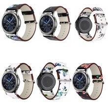 Bracelet en cuir fleur pour samsung galaxy watch 46 s3 Zenwatch 1 2 Huawei watch GT 2 pro Huami amazfit 2 s/1 Bracelet de rythme