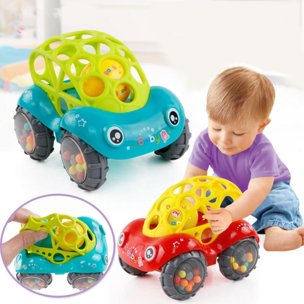Coche bebé campana agarre juguete de goma blanda bebé mano atrapar reproductor sonajero música niños regalo ola tambor entretenimiento interactivo