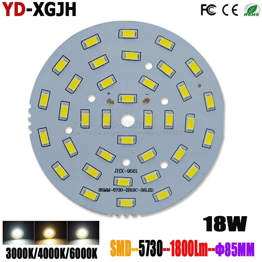 10 PCS LED PCB Board Platte Lampe Panel Aluminium kühlkörper 18 W 85 MM Kreis Rechteck LED Lampe Chip basis innen und außen beleuchtung