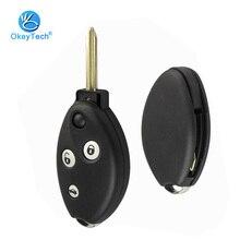 OkeyTech-coque de clé pour Citroen C3 C4 C5 Saxo Xsara Picasso Berlingo 3 boutons avec tampon en caoutchouc, accessoires de voiture, alarme