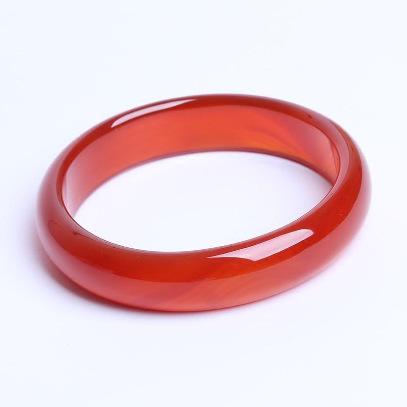 ONEVAN cuff NATURE carnelian sardonyx BEAUTIFUL women sweet red charm agate bangle bracelet luck 56-64MM