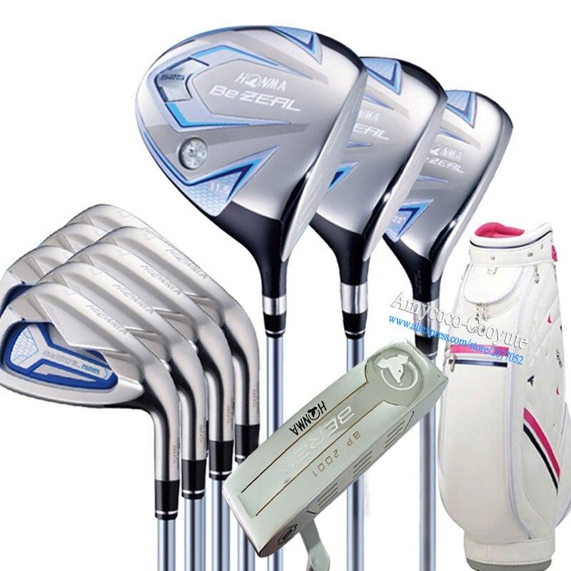 Nuevas mujeres palos de Golf HONMA 525 juego completo HONMA Golf driver. Madera. Hierros. putter grafito mango de Golf plus Clubs bolsa envío gratis