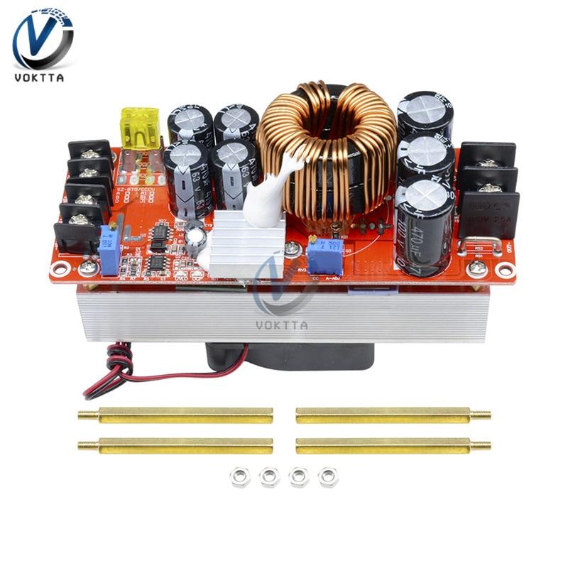Convertidor de aumento de voltaje 1500W 30 a Boost CC Módulo de suministro de potencia CV Módulo de aumento de corriente constante DC-DC 10-60V a 12-97V