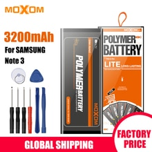 Batterie MOXOM pour Samsung Galaxy Note 3 batterie N900 N9002 N9005 N9006 N9008 B800BC 3000 mAh haute capacité avec outils gratuits