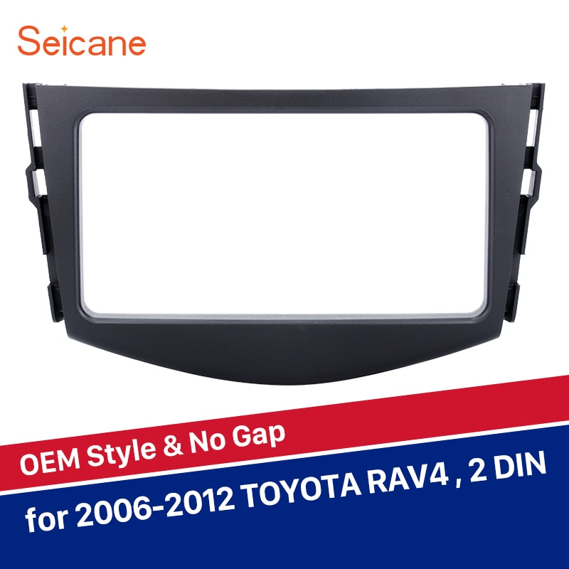 Seicane 200*101mm refitting Double Din Car Stereo Panel Fascia for 2006 2007 2008 2009 2010 2011 2012 TOYOTA RAV4 Radio Frame