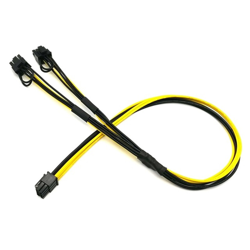 angitu atx 24pin to dual pci e 6pin power adapter cable with power starting Angitu UL 1007 16AWG 6Pin to Dual 6+2Pin Power Cable