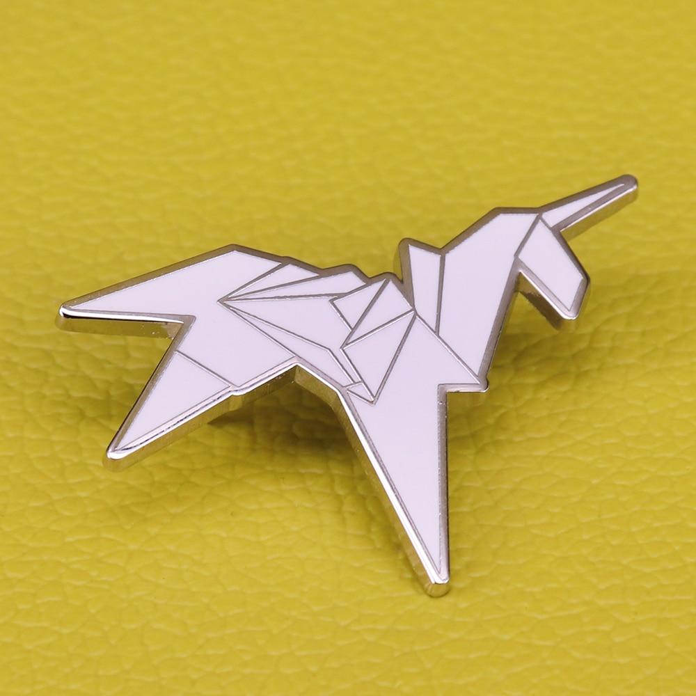 Broche de unicornio de origami de Blade Runner, insignia artística abstracta, lindos abanicos de película, regalo de unicornio