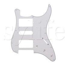 White Guitar Pickguard 11 Hole HSH for Guitar
