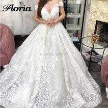 High Quality Wedding Dresses 2019 Muslim Saudi Arabic Ball Gown Bridal Dress Vestido de Noiva Customized Turkish Backless Gowns