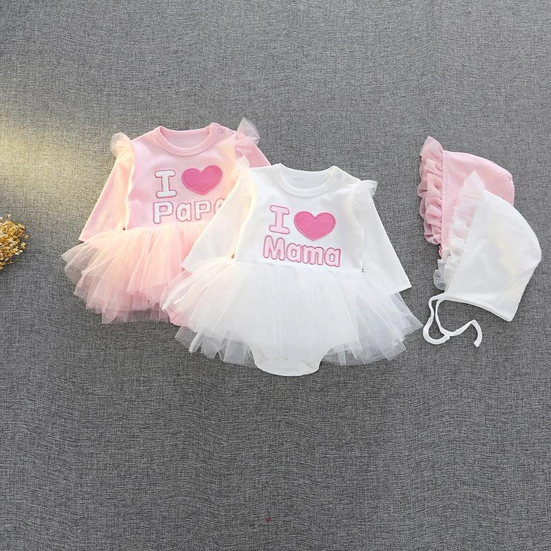 Vêtements pour bébés filles 0-3 m 6 m   En coton, 9 m, vêtements pour bébés filles, vêtements Tutu, cadeau pour fête prénatale mariage