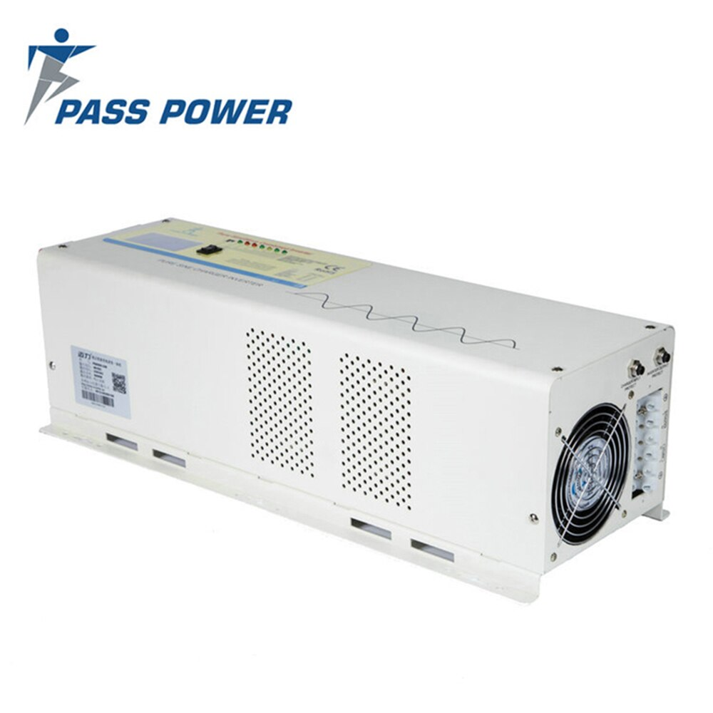 Envío rápido fuera de la red 6000w inversor de onda sinusoidal pura con cargador 24v 48v a 220v 230v 240v cargador inversor solar