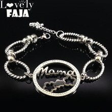 Bracelets en acier inoxydable 2020 maman cristal pour femmes fleur couleur argent arbre de vie Bracelets pour femme bijoux pulsera B18059