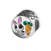 hpxmas 5pcslot wholesale european charm bracelet accessories make beads for jewelry cute rabbit carrot round cz bead